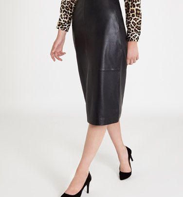 Paul Costello Leather Skirt, 150E @ Dunnes