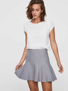 grey pleated skirt, 44E @ Vero Moda