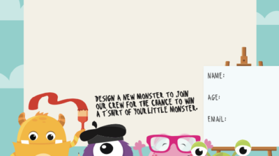 Draw Our Monsters for Little Monsters 2020!